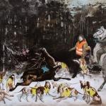 Gewährsmänner, 2012, Öl/Lwd., 145 x 194 cm