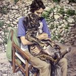 oh my dog I, 2011, Öl/Lwd., 200 x 150 cm