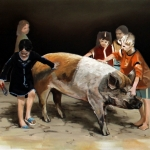 The Pigs are allright, 2012, Öl/Lwd., 100 x 130 cm