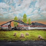 Wiese, 2012, Öl/Lwd., 80 x 100 cm